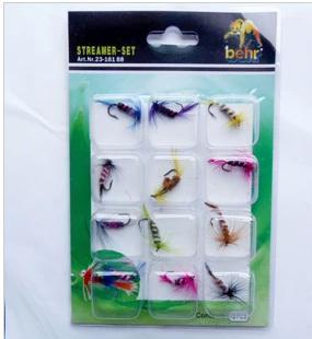 Fliegenfischenköderfischen Fliegenfliegenhaken / pack