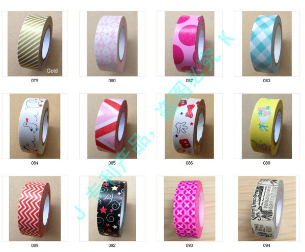 best selling Lovely Washi Tape colorful printing washi tape printing washi tape width 15mm  Length. 10m.