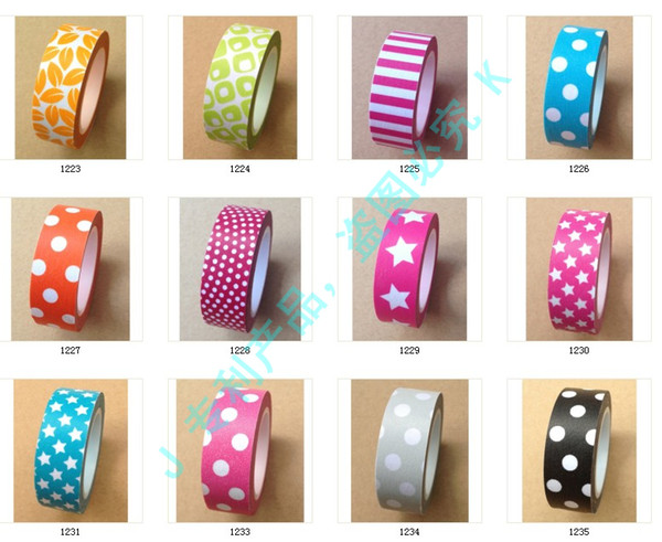 top popular New quality solid washi tape Washi Tape,Shipping Free,colorful printing washi tape,printing washi tape,hot in market,accept mix,width 15mm  2021