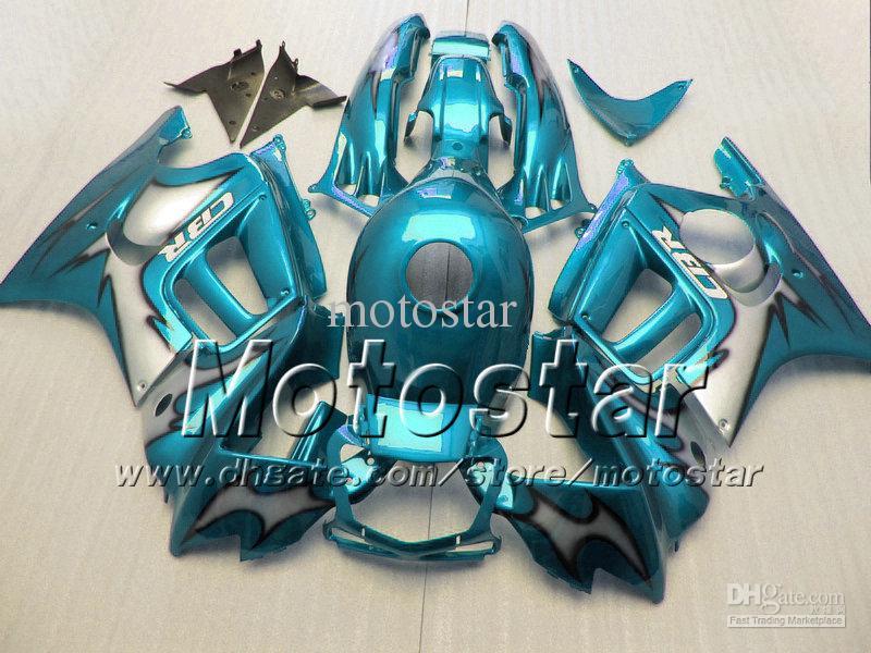 7 Geschenke für HONDA CBR600F3-Verkleidungen 95 96 cbr600 f3 1995 1996 CBR 600 F3 Motorradverkleidung ganz glänzend hellblau