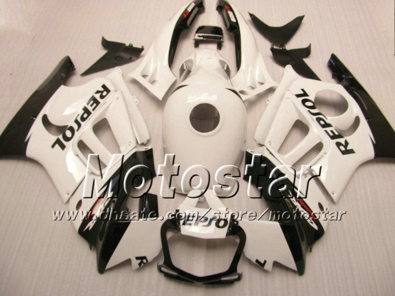 Piezas de carenado de motocicleta para HONDA CBR600F3 95 96 cbr600 f3 1995 1996 CBR 600 F3 carenado blanco brillante negro Repsol