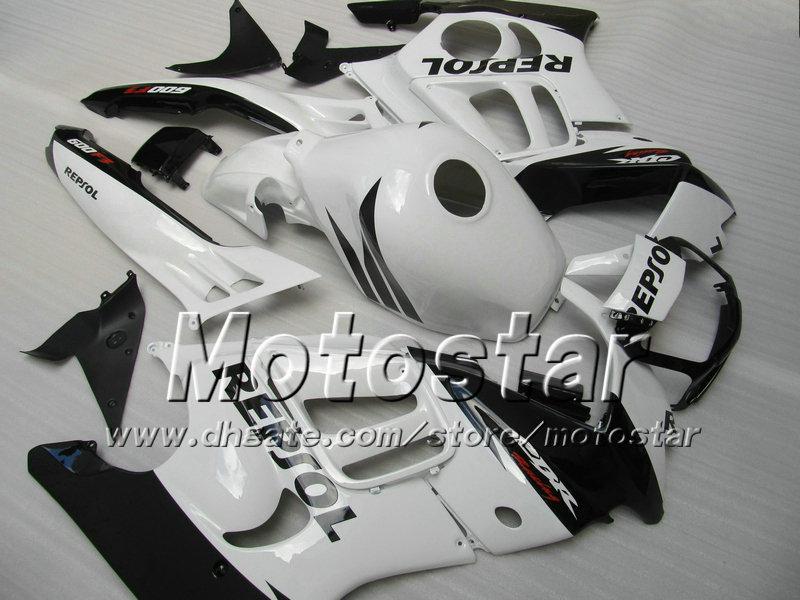 Motorrad Verkleidungsteile für HONDA CBR600F3 95 96 cbr600 f3 1995 1996 CBR 600 F3 Verkleidung glänzend weiß schwarz Repsol