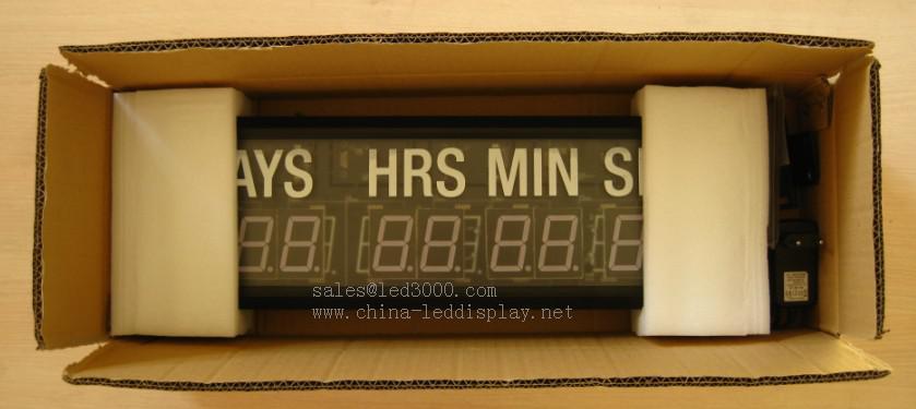 1.8inch Tag, Stunden, Minuten und Sekunden LED-Countdown-Timer mit weißem Aufkleber Wanduhr LED-Timer Hohe Helligkeit Fernbedienung