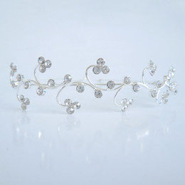 Wholesale Celtic Headbands - Exquisite Headdress Crystal Headbands Flower Hair Jewelry Women Girls Favorite Accessories