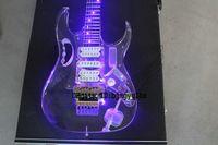 Wholesale Acrylic Guitars - Custom Shop LED acrylic Electric Guitar Acrylic LED lighting electric guitar Wholesale High Cheap OEM Guitars