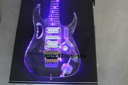Wholesale Led Guitar Lights - Custom Shop LED acrylic Electric Guitar Acrylic LED lighting electric guitar Wholesale High Cheap OEM Guitars