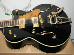 Wholesale Oem Jazz Guitars - Custom Shop Black Falcon Jazz Guitar Electric Guitars withBigbys Wholesale OEM Musical instruments