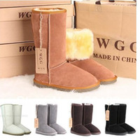 Wholesale Warm Tall Winter Boots - High quality!Australia classic tall women's popular snow boots brand 100% real fur winter warm shoes