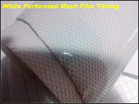 Wholesale white headlight film for sale - Group buy One way vision white self adhesive Paintable Perforated Window Film Mesh Film Headlight tinting x50meters