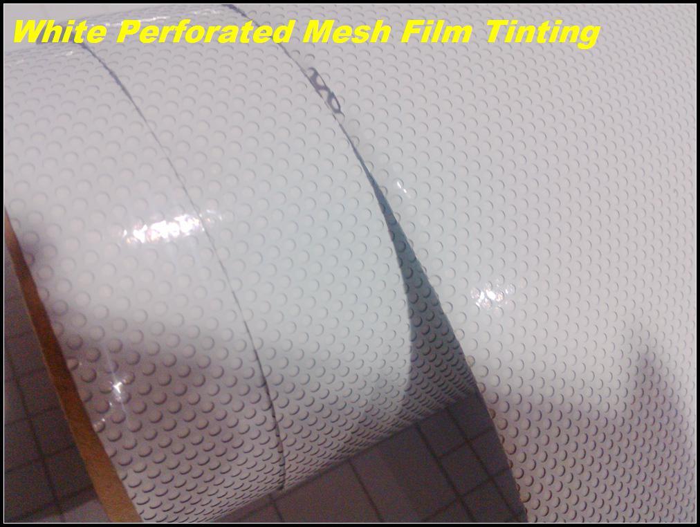 ONE WAY VISION White Contravision Bedruckbares Vinyl Perforierte Fensterfolie Netzfolie selbstklebende Aufkleber 1,07 / 1,37 / 1,52 x 50 Meter