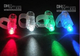 Wholesale Led Rave Rings - Wholesale - Christmas gifts LED Bright Finger Ring Lights Rave Party Glow 4x Color kids toys free shipping
