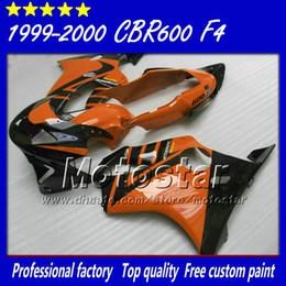 carenado naranja negro Rebajas 7 Regalos para carenado abs Honda CBR 600 1999 CBR600 F4 2000 CBR600F4 99 00 kit de carenado negro con carrocería rojo naranja si6