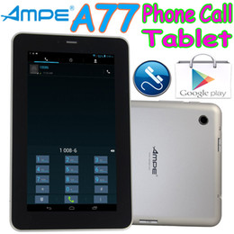 "Wholesale Ampe A77 - 5pcs Ampe A77 7"" 2G GSM Phone Calling Android 4.1 Tablet PC 512MB 4GB Capacitive Touch Dual Camera Bluetooth WIFI MID DHL Free Shipping"