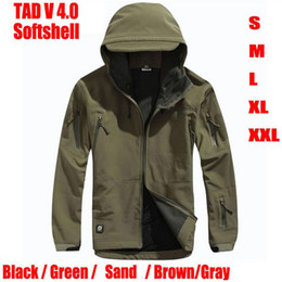 Wholesale Fleece Hunting Jacket - TAD V 4.0 Men Softshell Windbreaker Jacket For Outdoor Hunting Camping Waterproof Army Coat Outerwear Hoodie Free Shipping