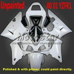 Argentina Carenado de motocicleta sin pintar para YAMAHA 2000 2001 YZF-R1 00 01 YZFR1 00 01 YZF r1 carenados YZFR1000 azul blanco kits de cuerpo zs86 cheap yamaha r1 body kits Suministro