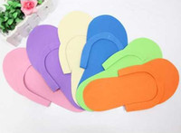 Wholesale Disposable Flip Flop Slipper - FREE SHIPPING Disposable shoes for beauty salon,one off spa use slippers,nail salon EVA foam shoes 50pairs lot