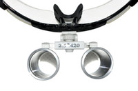 Wholesale Dental Optical Binocular Loupes - Portable Brand New Black Dentist Dental Surgical Medical Binocular Loupes 2.5X 420mm Optical Glass Loupe