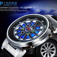 Wholesale Led Binary Watch Fashion - Fashion Hot sale TVG Brand Men's Clock Fashion Blue Binary LED Pointer Watch Stainless Steel 30m Waterproof Watch hours Watch