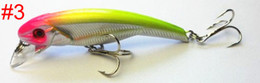 Wholesale Trout Minnow Lures - new 12pcs Cranbaits Fishing Lure Bait trackle hard plastic lures Floating trout Minnow 7.6CM 5.9G 6#hooks free shipping