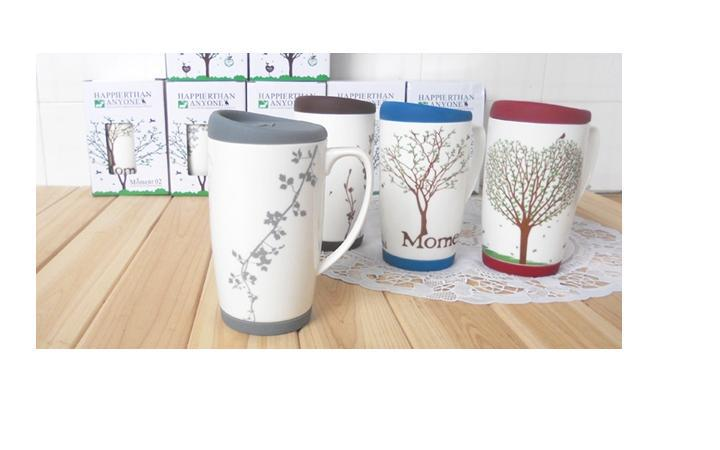 2019 New Arrival Handle Large Mug With Lid Ceramic Cups ...