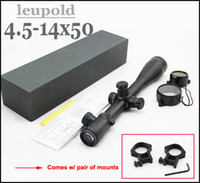 Wholesale Rifle Scopes Leupold - Leupold 4.5 -14x50 Mark 4 Red and Green Mil-dot Illuminated Rifle Scope Comes With Mounts And Lens Protective Caps Black