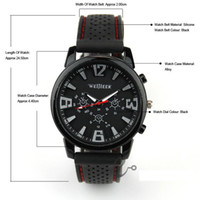 Wholesale Military Pilot Aviator Army Style - 200pcs Black for Military Pilot Aviator Army Style Silicone For Watches Men Boy Luxury Analog Outdoor Sport Racing Wrist Watch Free ship