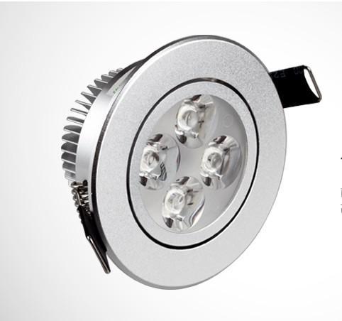 4x3W 12W Techo Epistar LED Downlight Lámpara de techo Blanco cálido Punto blanco fresco Luz 85V-245V envío gratis a la venta
