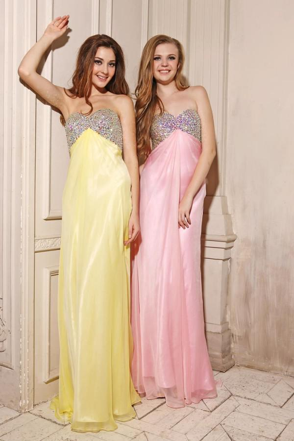 Fast Shipping Custom Made Crystals Long Graduation Dress Long Party Dress Prom Dresses Free Shipping