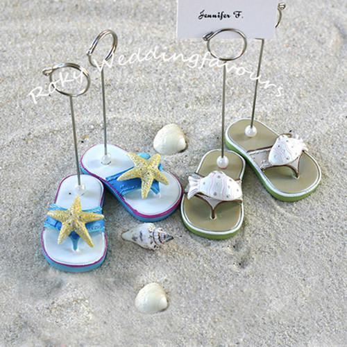 Free Shipping!60pcs=30pairs/lot Nice Beachcombers Flip Flop Place Card Holder Wedding Favors Party Favors Party Decoration Gifts