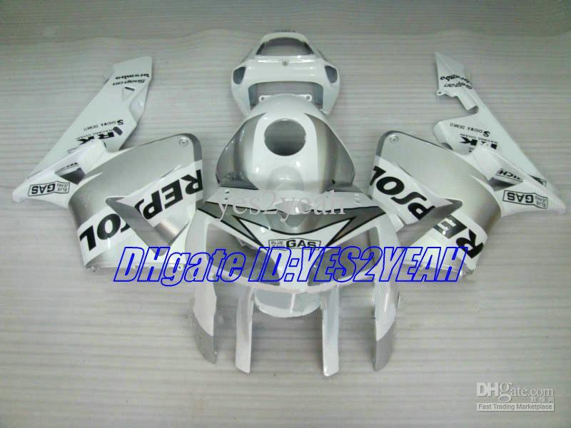 Инжекционный Кузов для HONDA CBR600RR 05 06 Обтекатель CBR 600RR CBR 600 RR F5 2005 2006 REPSOL белый Обтекатели запчасти HA20