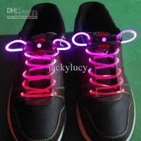 Wholesale Wholesale Fiber Optic Lighting Supply - New LED Flash Shoe Lace Fiber Optic Luminous Shoelaces Light Up Toys For Christmas Gift Bar Party Supplies 50pcs 25 pairs