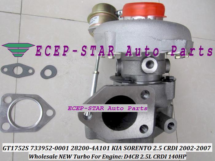 Turbocompresseur de turbo de GT1752S 733952-5001S 733952-5001S 733952-0001 733952 733952 0001 282004A101 282014A101 pour KIA SORENTO 2.5L CRDI 2002- D4CB 140HP