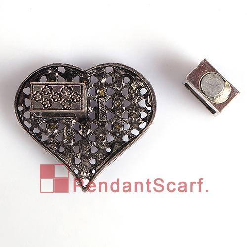 / neuer Entwurfs-DIY Schmucksache-Schal-magnetische Zusatz-Magnet-Verschluss-Geistesaluminierungs-Kristallliebes-Herz-Anhänger, freies Verschiffen, AC0227