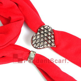 Wholesale Wholesale Magnetic Clasp Pendant - 12PCS LOT New Design DIY Jewellery Scarf Magnetic Accessories Magnet Clasp Mental Alloy Crystal Love Heart Pendant, Free Shipping, AC0227