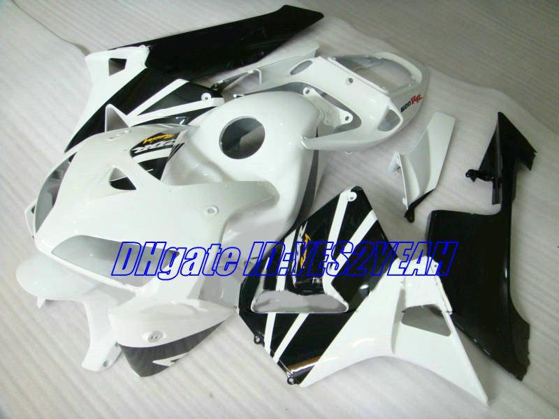 Carrocería de inyección para el kit de carenado HONDA CBR600RR 05 06 CBR 600RR CBR 600 RR F5 2005 2006 blanco negro carenados conjunto HA41