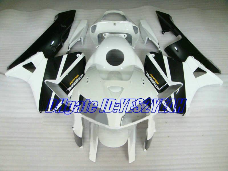Injectie Carrosserie voor HONDA CBR600RR 05 06 FUNING KIT CBR 600RR CBR 600 RR F5 2005 2006 WITTE BLACK VALERINGEN SET HA41