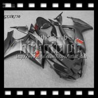 Wholesale Gsx R Matte Black - 7gifts+Cowl Fit SUZUKI GSXR750 K6 06 07 2006 2007 Matte Silvery grey black GSXR-750 GSX-R750 C#10490 GSXR 750 06-07 Free Custom Fairing
