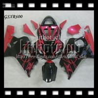 Wholesale Corona Fairings Red - 7gifts+Cowl Of CORONA SUZUKI GSX-R600 K4 04 05 GSXR600 GSXR 600 Bodywork C#35J23 GSXR-600 2004 NEW Red black 2005 Free Customized Fairing