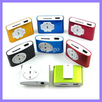 Wholesale Mp3 2gb Clip - Clip MP3 Player with Card Slot Support 1GB 2GB 4GB TF Card MP3 colorful Mini MP3 Music Player