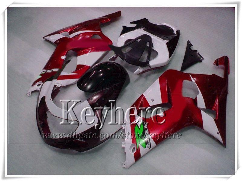 Hoogwaardige carrosserie voor Suzuki 2001 2002 2003 GSX R600 / 750 01 02 03 K1 GSXR 600 750 Red Black Fairing Kit GY98