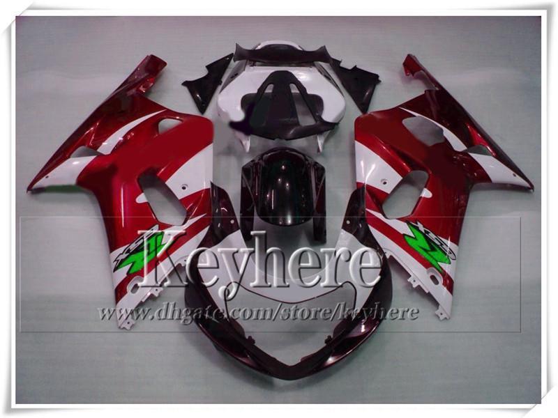 Carrosserie de haute qualité pour SUZUKI 2001 2002 2003 GSX R600 / 750 01 02 03 k1 Kit de carénage GSXR 600 750 rouge noir Gy98