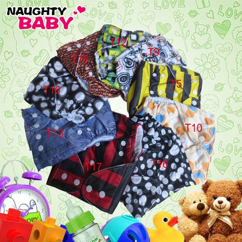 Free Shipping Pocket Diaper Covers With 2 microfier insert Naughtybaby Reusual Fabric Single Row snap Cloth Diapers With Insert 50 Sets(1+2)