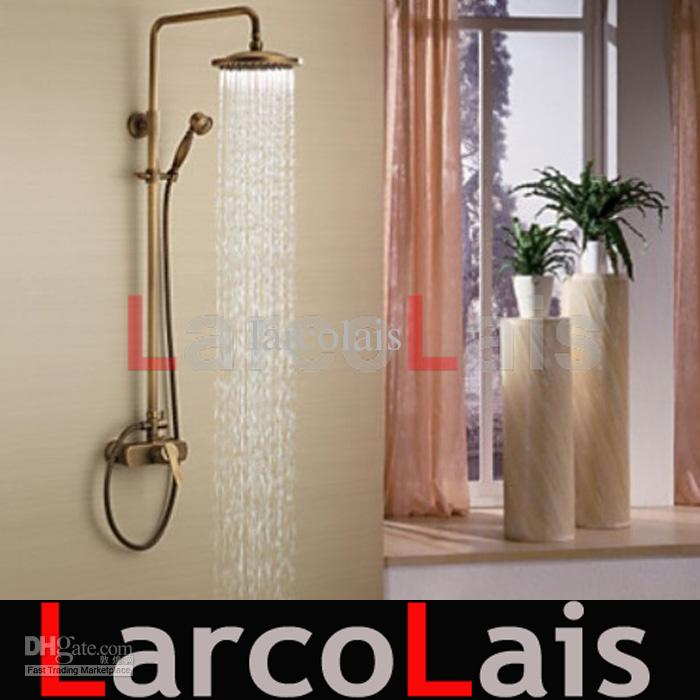 2018 Water Tap Bathroom Mixer Tap Antique Brass Tub Shower Faucet ...