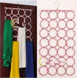 Wholesale Hole Hangers - 28-hole Ring Holder Hook Scarf Wraps Shawl Storage Hanger Organizer