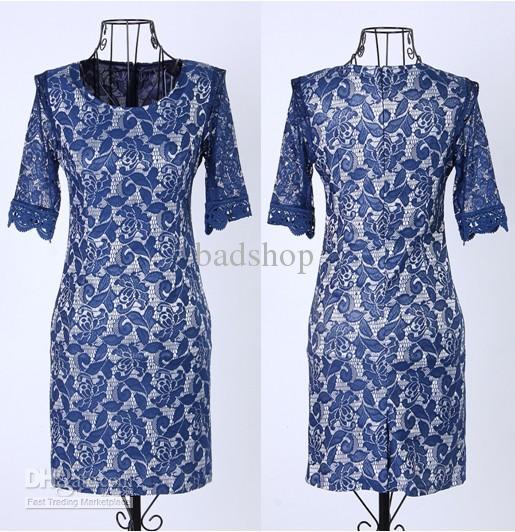 00cd5e8e3878 Acquista Kate Middleton Lace Dress Lady Elegance Leggings Slim Abiti Donna  Primavera Chiffon Girocollo Abito Abbigliamento Donna A  31.51 Dal Badshop  ...