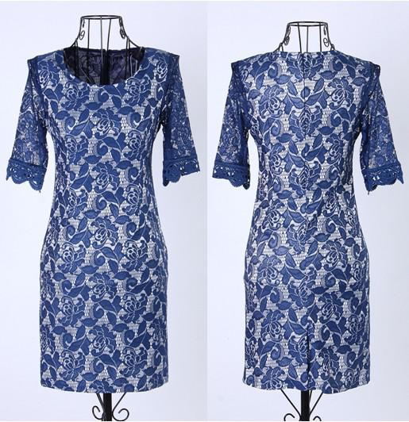 Kate Middleton Lace Dress Lady Elegance Leggings Slim Dresses Women spring chiffon round neck dress Women Clothing