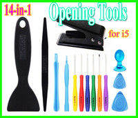 Wholesale High Quality Cell Repair Tools - High quality 15 in 1 Screwdriver tool Opening tools for ipad  iPone 4 4s 5 cell phone repair disassemble kit set for phone