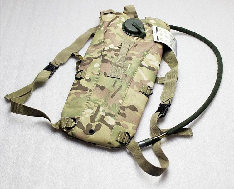 Outdoors Airsoft Tactical Water Hydration Carrier BackPack with Shoulder Strap 2.5 L Bladder Bite Valve Drink Tube