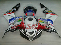 honda kit racing al por mayor-Kit de carenado de la versión Racing para Honda CBR600RR 07 08 CBR 600RR F5 2007 2008 CBR600 ABS Blanco Conjunto de carenados de colores + Regalos HX20