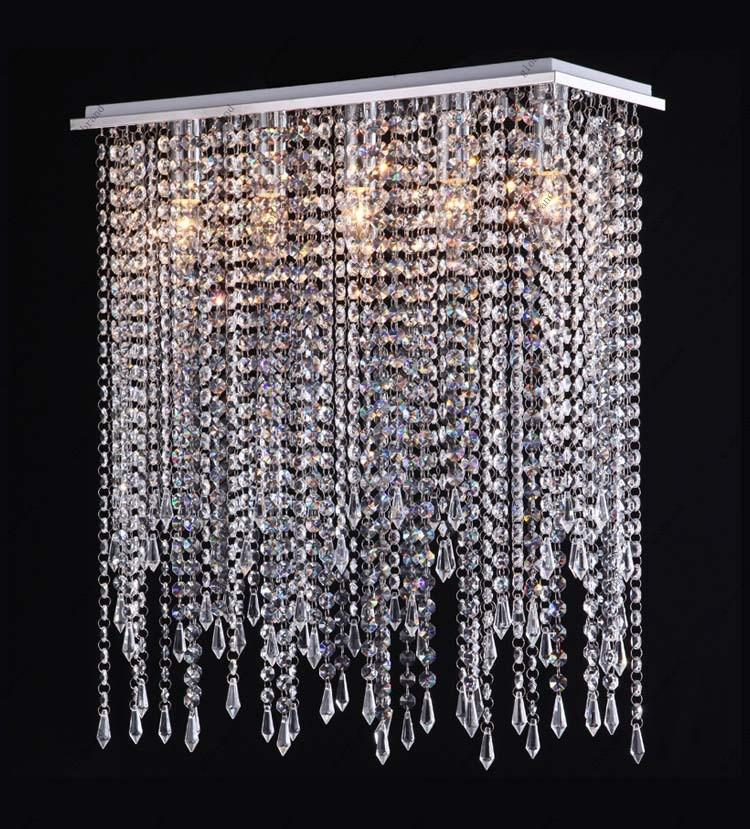 Modern Crystal Chandelier Lighting Drop Pendant Lamp For Dining Room